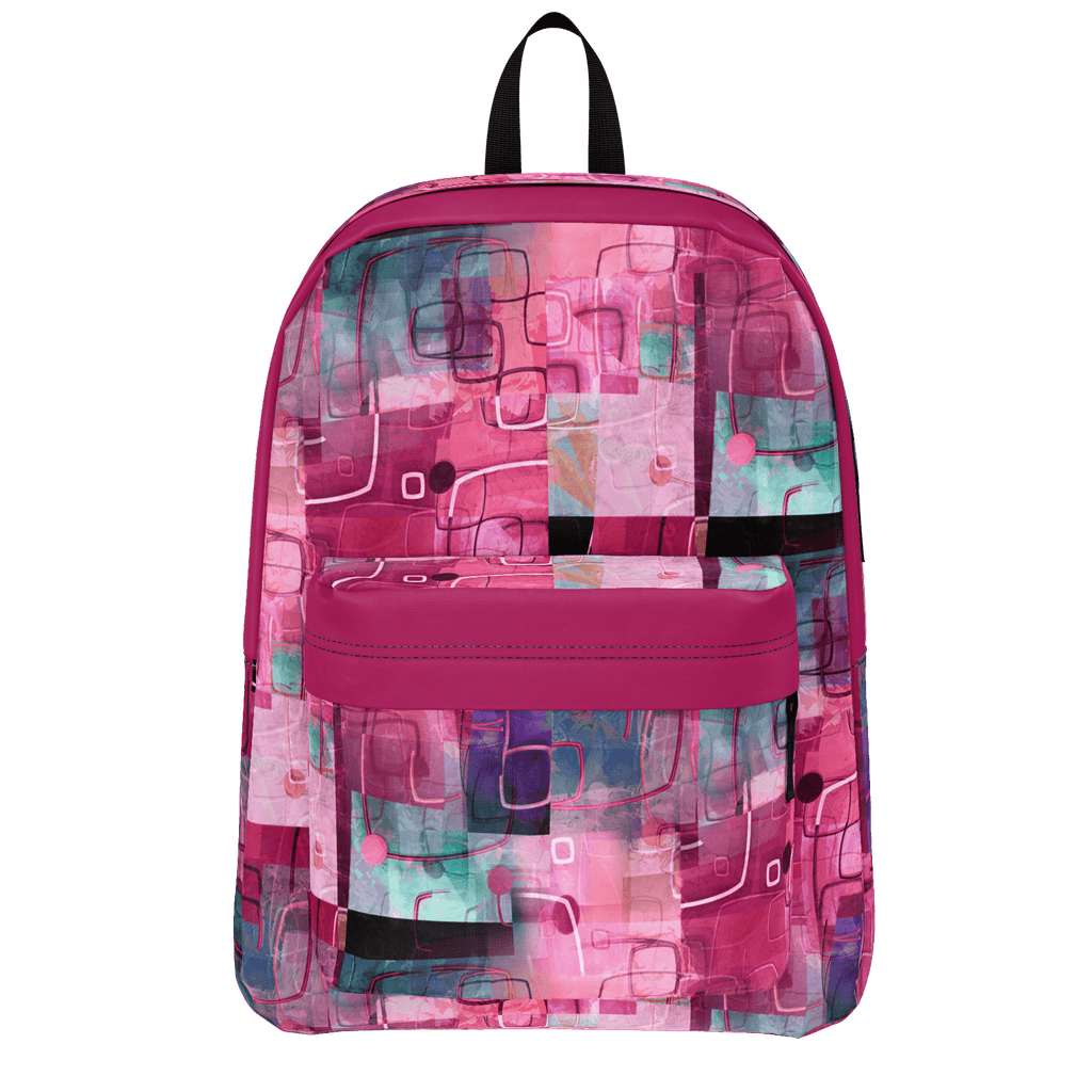 My Beautiful Mess Abstract Pink Artwork Backpack