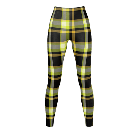 Yellow & Black Checkered Pattern  Leggings