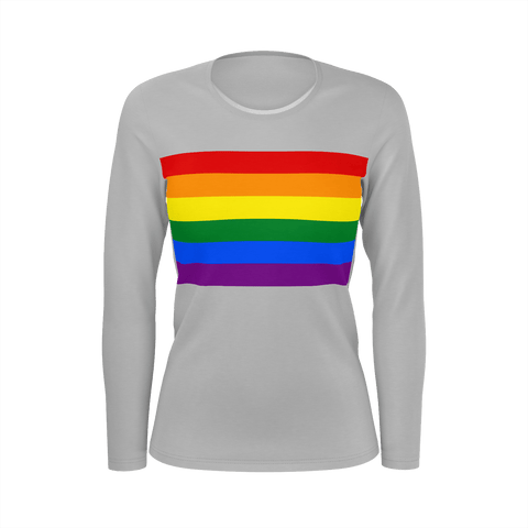 LGBT Color Meanings, Woman's Long Sleeve Grey Shirt