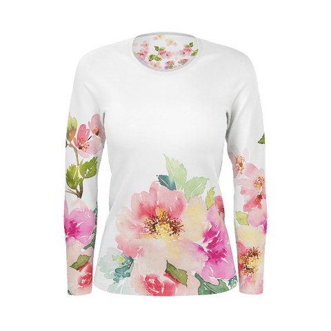 Womans Long Sleeve tshirt Floral