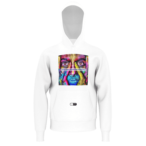 True Colors Are Awesome Hoodie White Background - Never Chill Pills