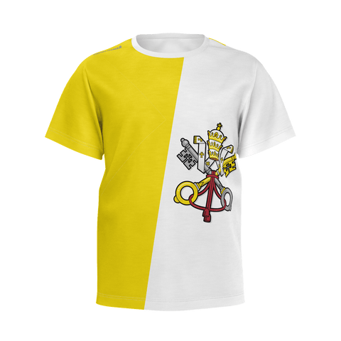 (Youth) Papal Ninja Flag T-Shirt - Be Courageous