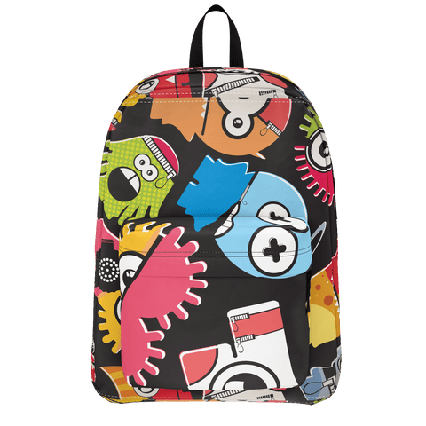 School Bus Aliens BackPack Design 2