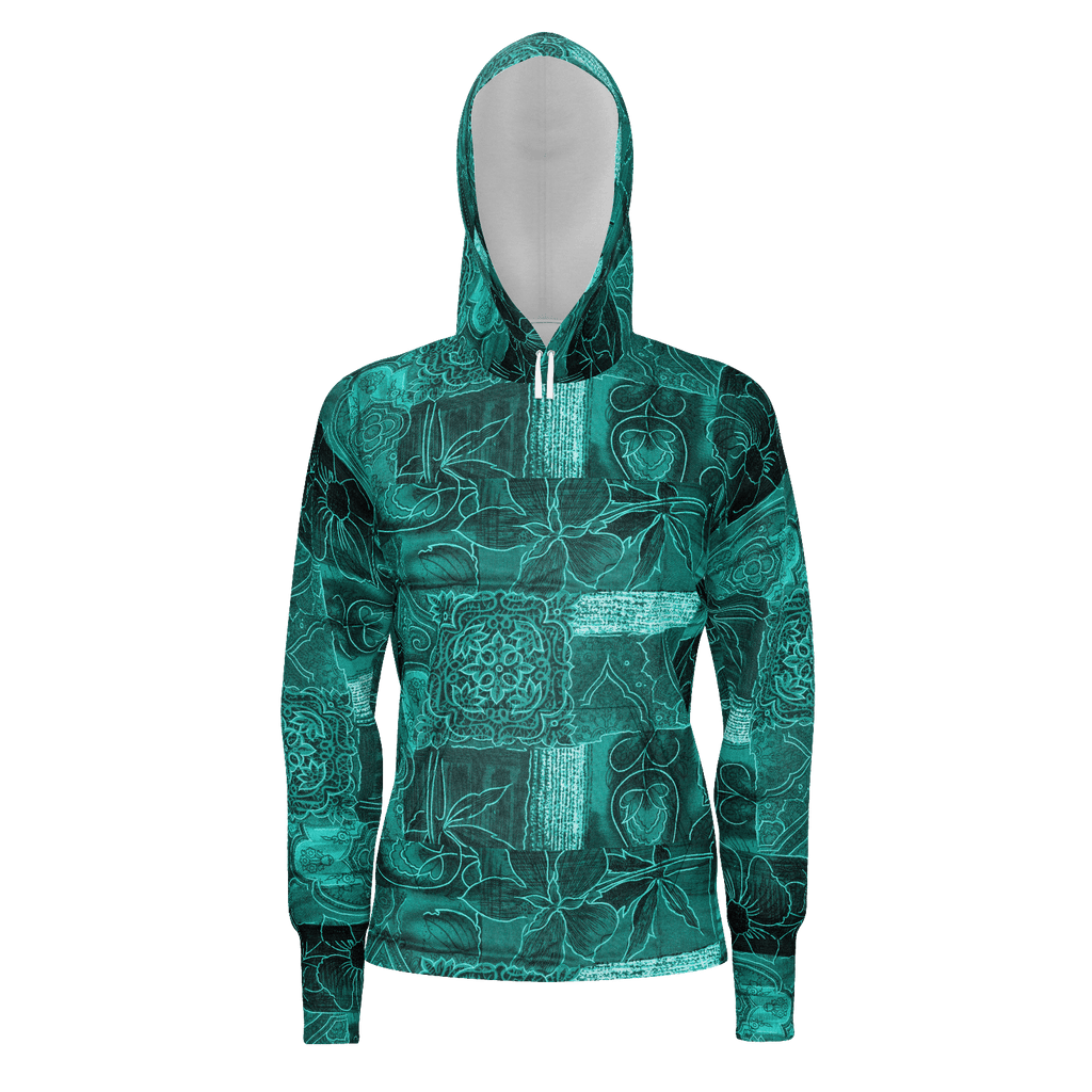 Green Abstract Pattern Hoodie
