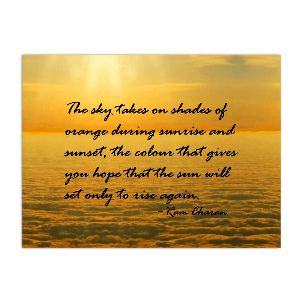 Sea of Clouds (Quote) Horizontal Poster