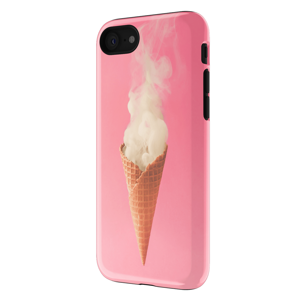 Smoking icecream on pink - Iphone 7 Case