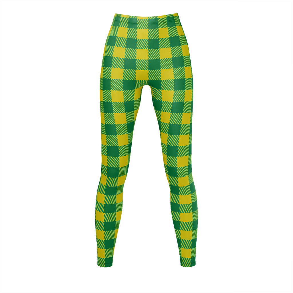 Lime Green And Green Flannel Pattern