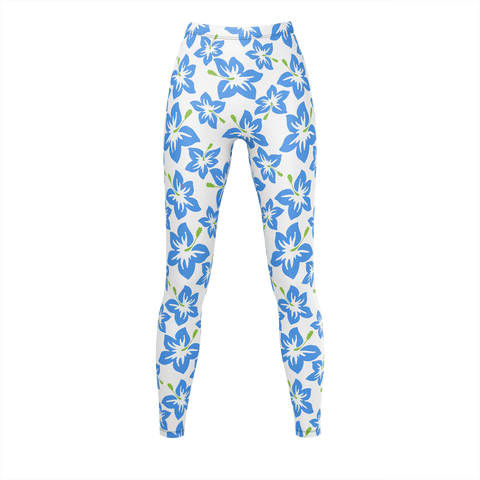 Blue Butterflies Pattern Leggings