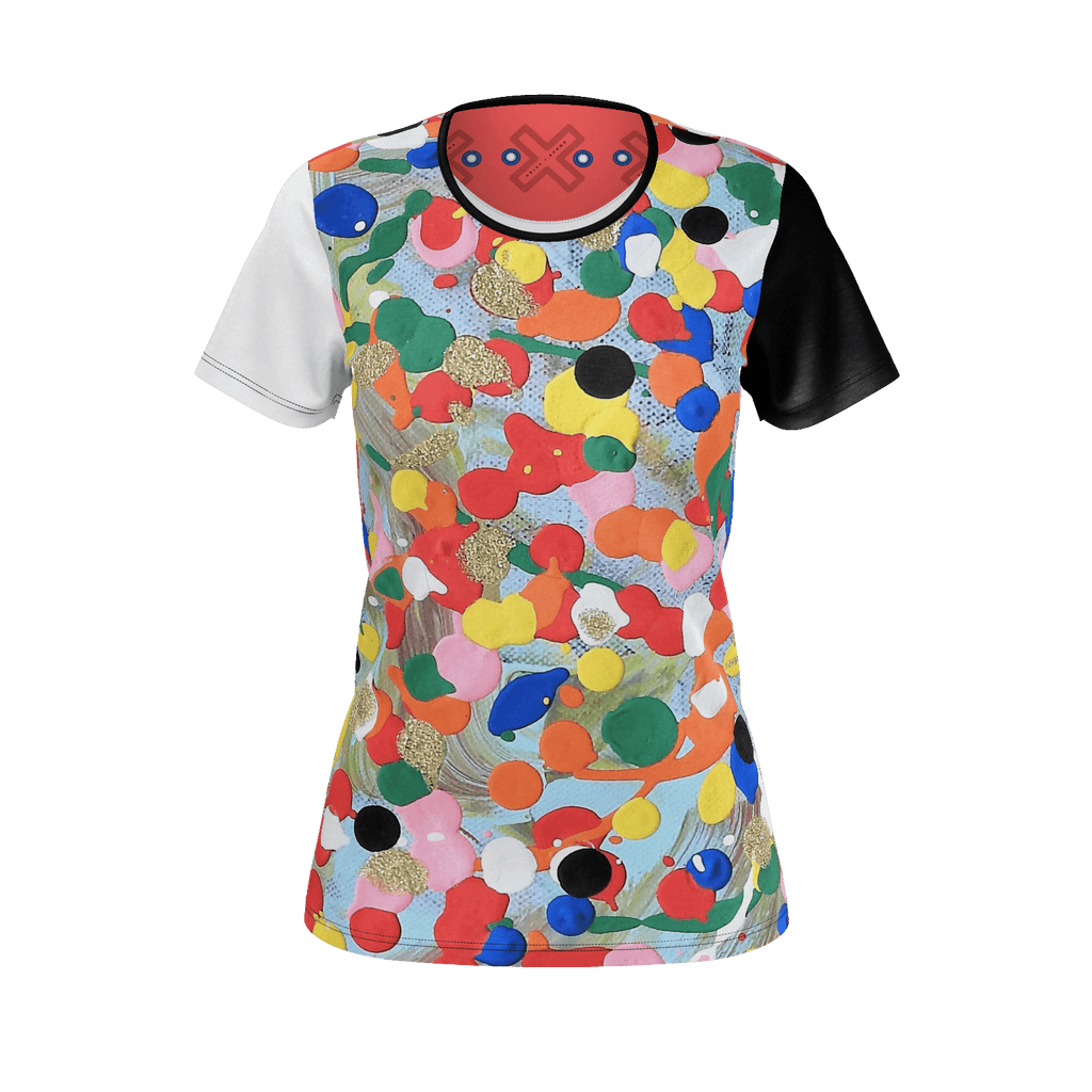 LIVE A COLOURFUL LIFE PIMA COTTON WOMEN'S TEE (MEDIUM)
