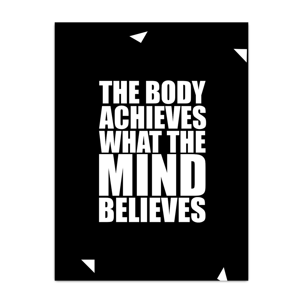 The body achieves... Inspirational Quote Fashion