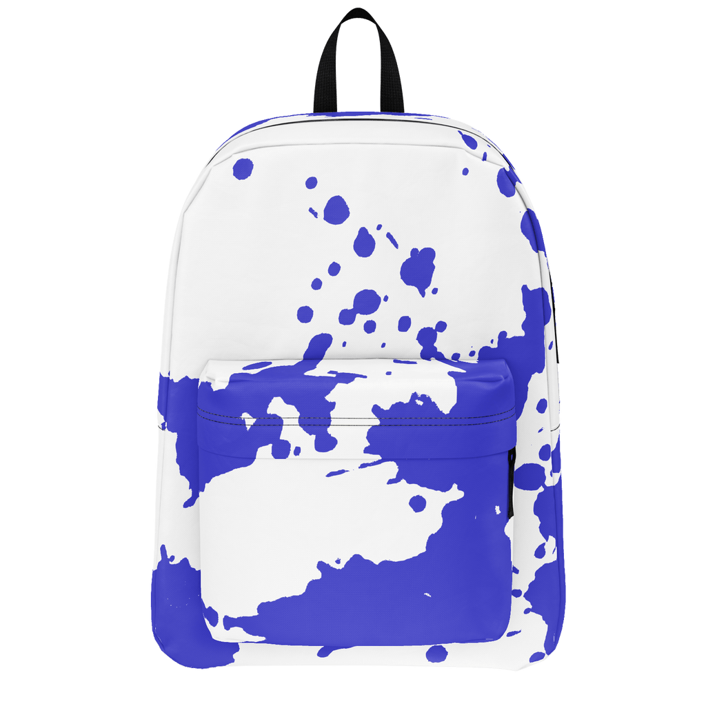 blueberry splatter paint backpack
