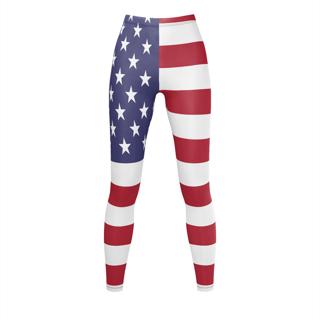 Stretchable Leggings US Flag Color