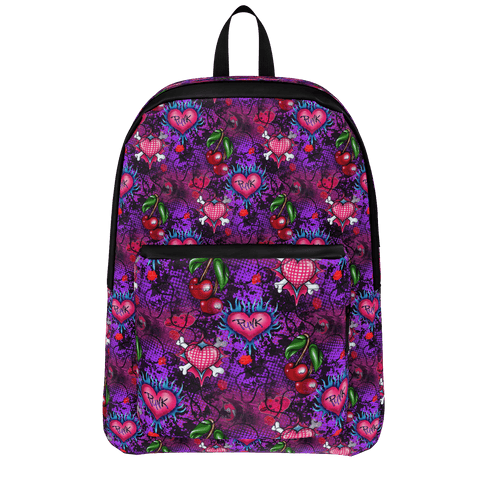 Girls Punk Grunge Pattern Backpack