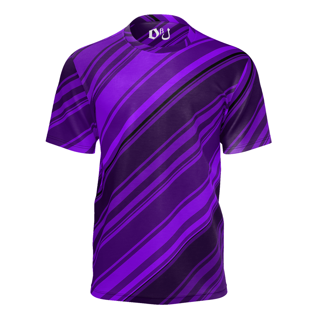 Black/Purple Diagonal Striped Men's T-Shirt