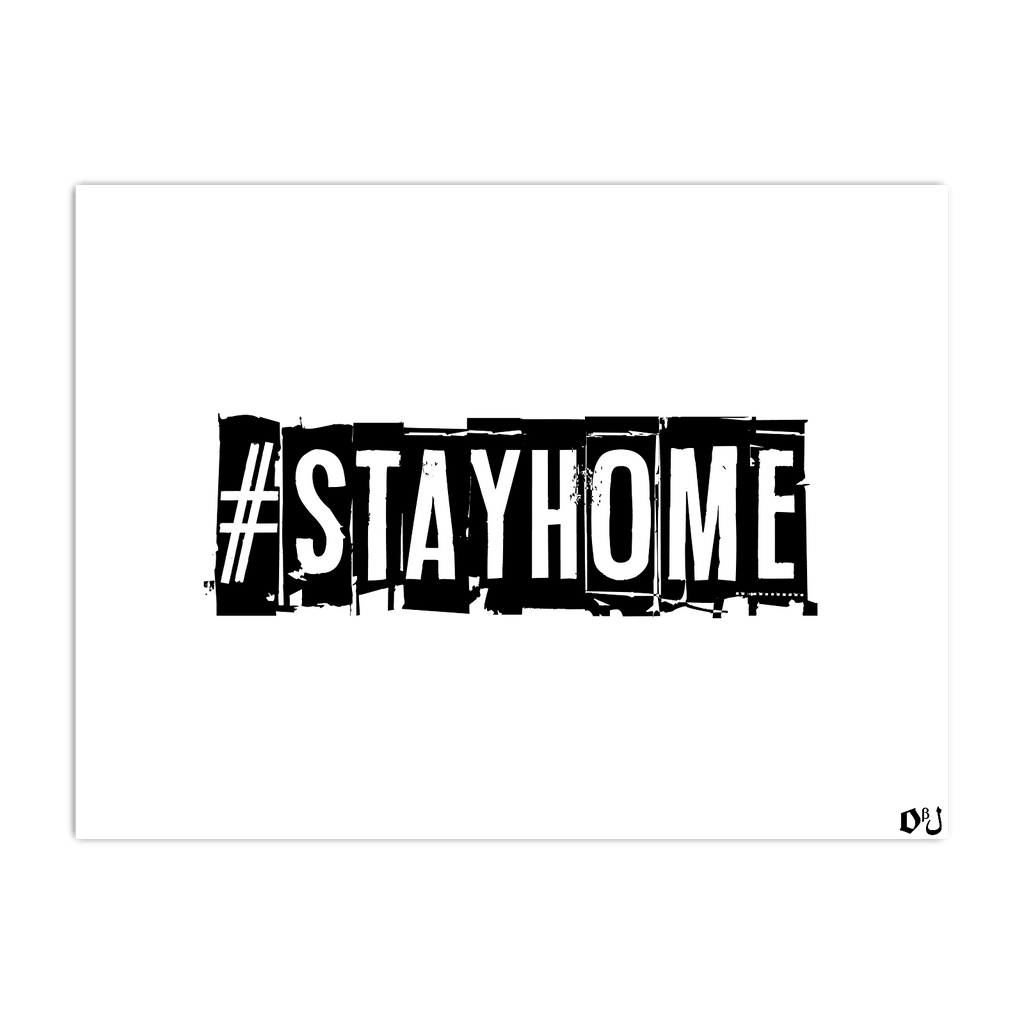 #StayHome Horizontal Poster(White)