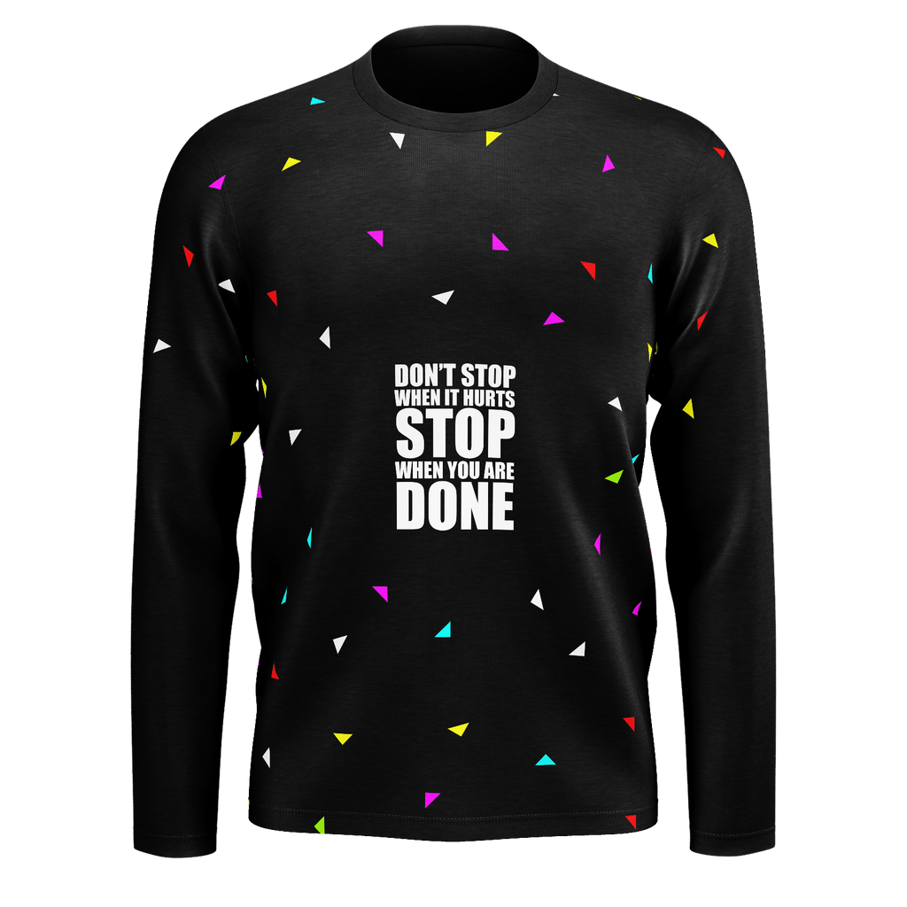 Don't stop when it hurts... Gym Motivational Fashion (Party Style)