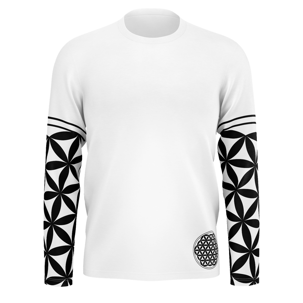 Flower of Life sleeves with Geometry eye on the back