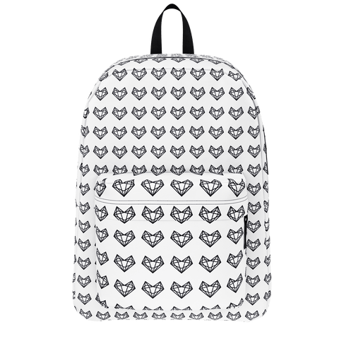 Sistersquad Family Black Heart Classic Backpack (White)