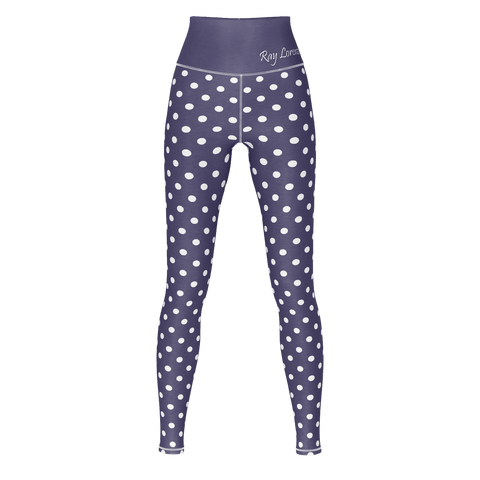 Polka Dot Yoga - Dusty Blue