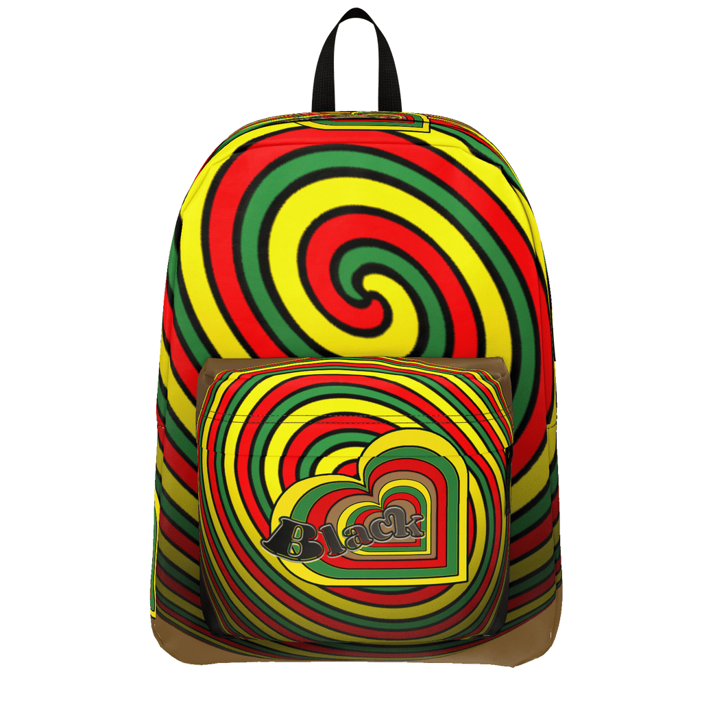 BLACK LOVE HEART 'SPHERES' BACKPACK - CLASSIC SIZE -