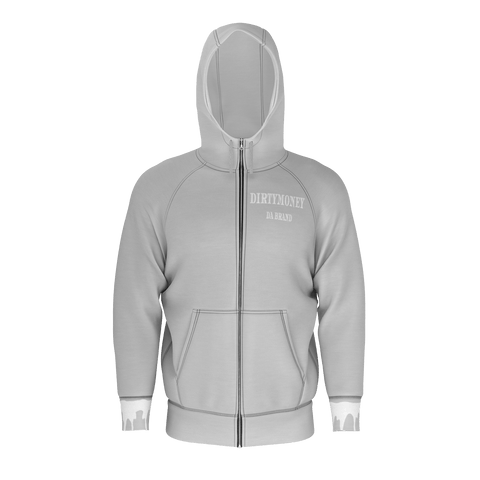 DIRTYMONEY ZIP UP GREY/W non poly