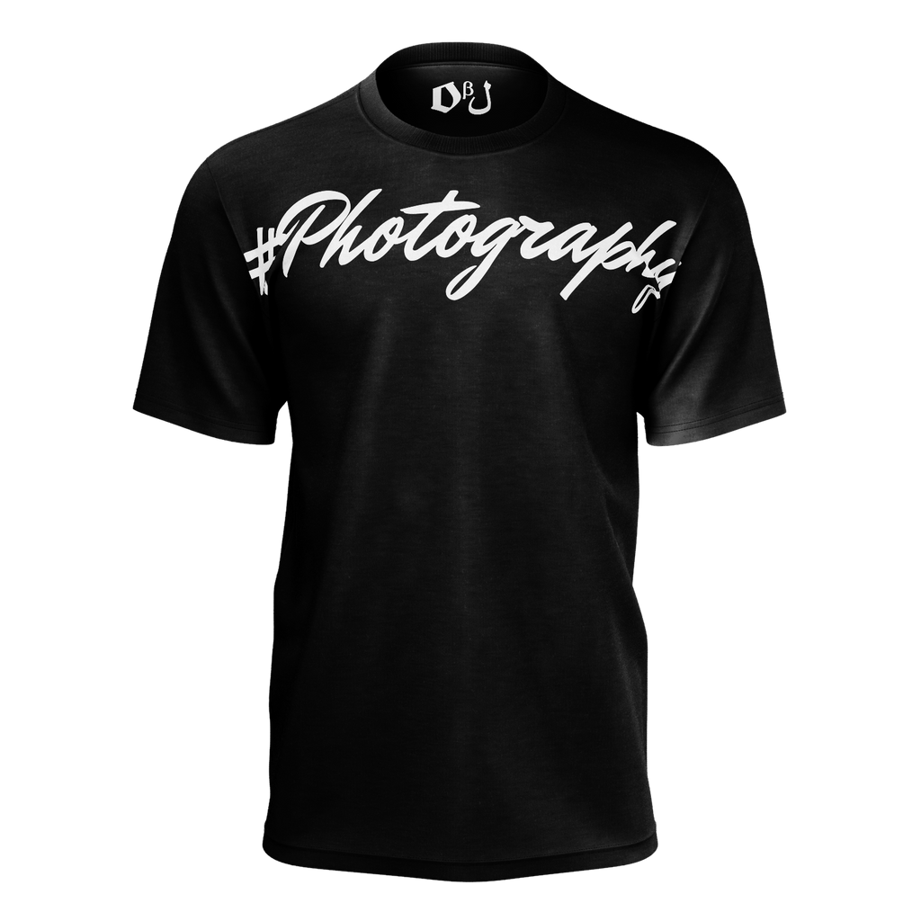 #Photography Men's T-Shirt (Black)