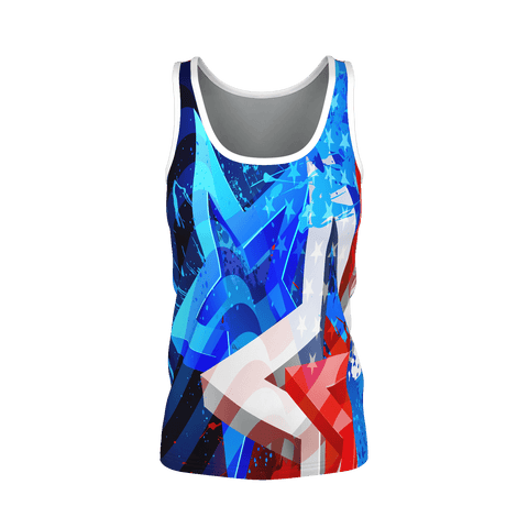 Stars and Stripes Red White and Blue Women's Tank Top