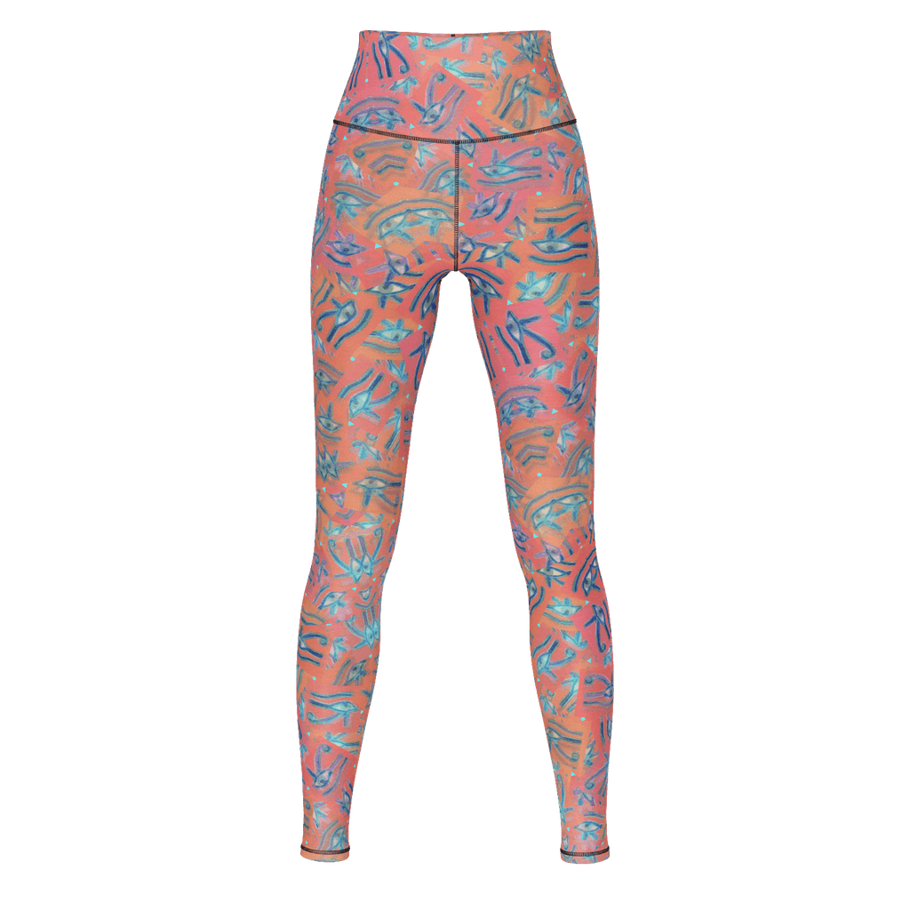 Eye of Horus Ra Pink Blue Yoga Pants