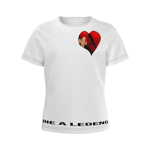 White tee Female Die A Legend