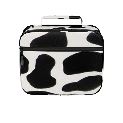insulated cow print lunchbox
