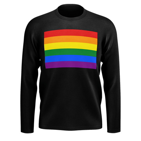 LGBT Color Meanings, Men's Long Sleeve Black Shirt