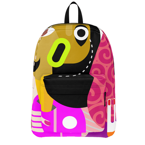 School Bus Aliesn Backpack Parrot