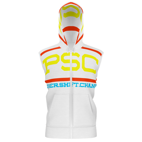POWERSHIFTCHANGE - SLEEVELESS HOODIE - WHITE