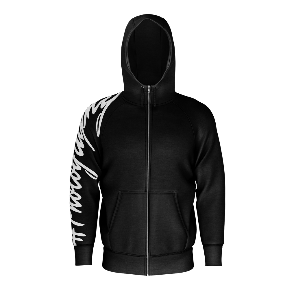 #Photography Men's Raglan Zip Hoodie 260GSM Cotton (Black)