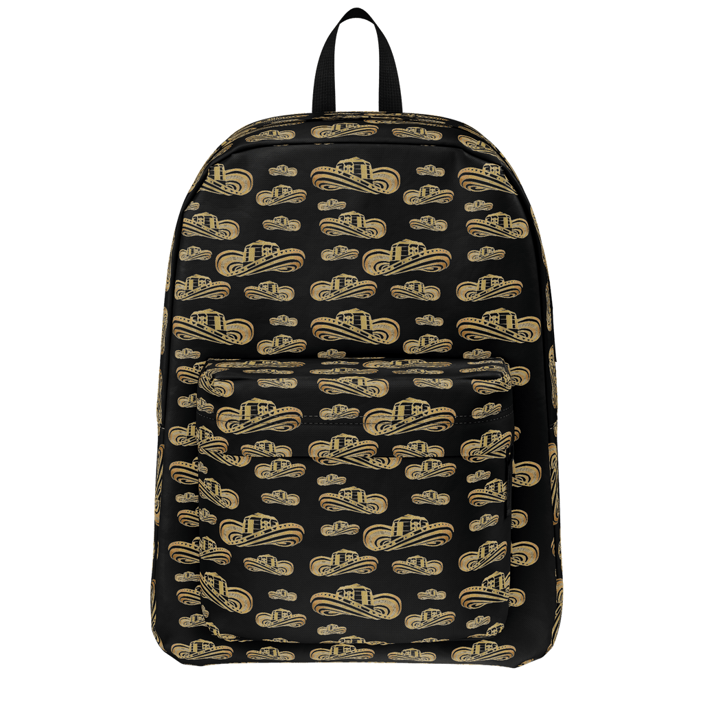 Sombrero Vueltiao in Gold Leaf (Black) - Standard Backpack