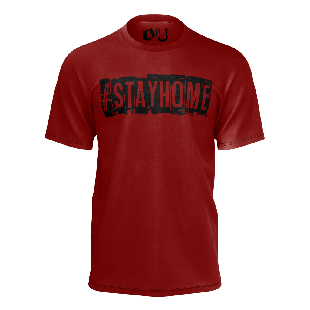 #StayHome Men's T-Shirt (Maroon 2)