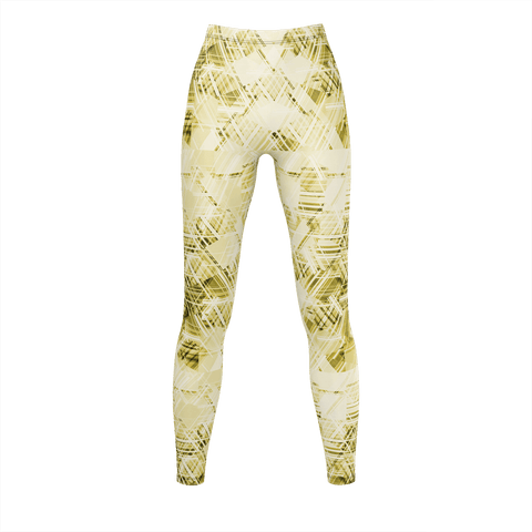 Yellow Grunge Pattern Leggings