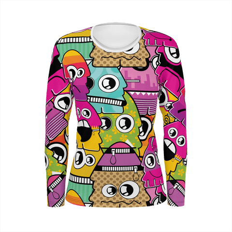Female - Long Sleeve - Pink Aliens