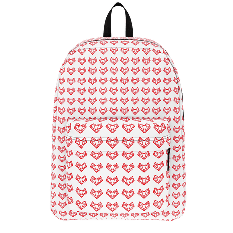 Sistersquad Family Red Heart Classic BackPack (White)
