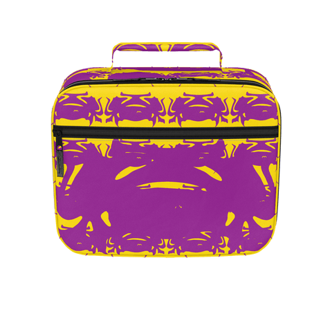 Gold Leopard Cat Print Pattern Lunch Box