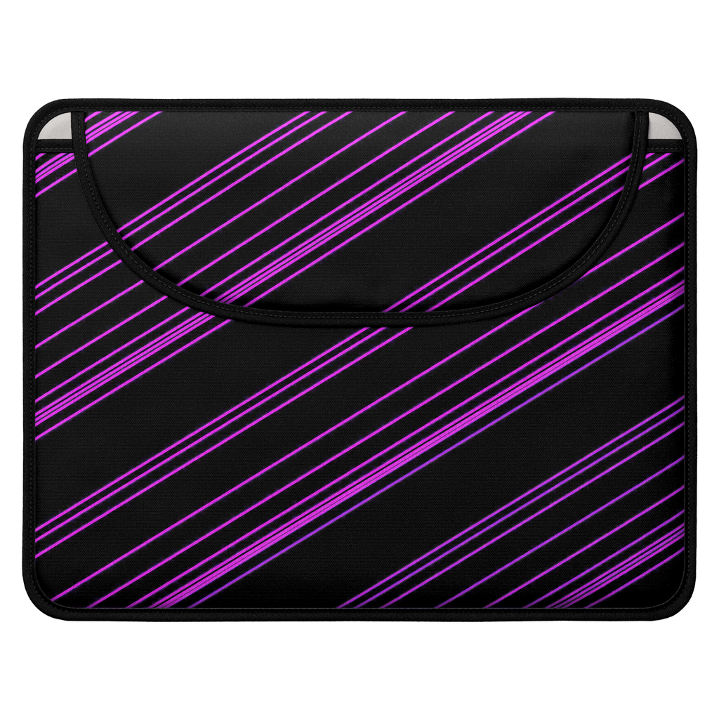 Purple/Black Diagonal Striped Envelope Laptop Sleeve