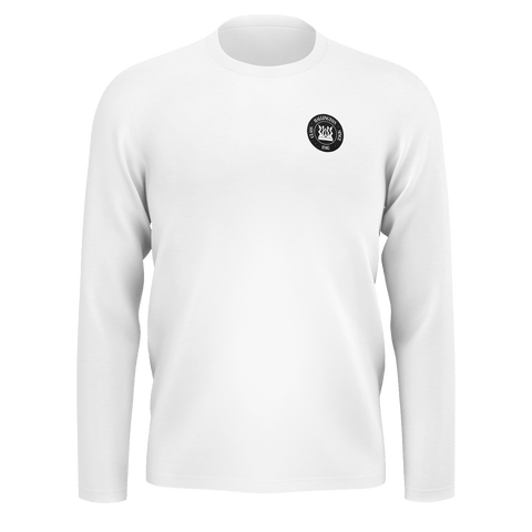 Hallington Long Sleeve [White & Black Logo]