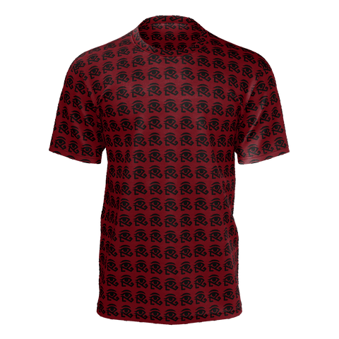 Maroon shirt with small 360 logo