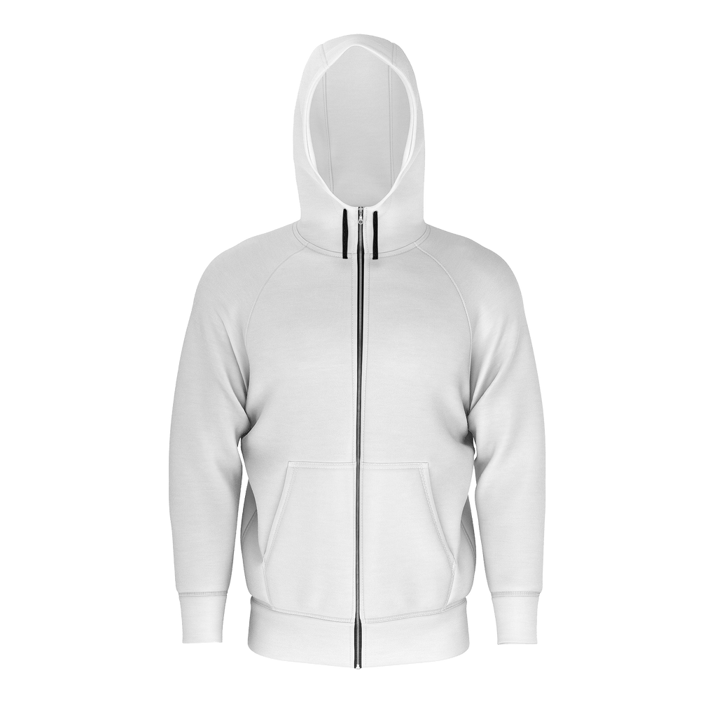 Remember the Lost Men's Raglan Zip Hoodie 260GSM Cotton (White)