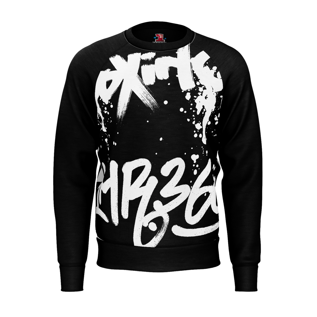 1MR 1st Edition - Mens Graffiti Raglan Black