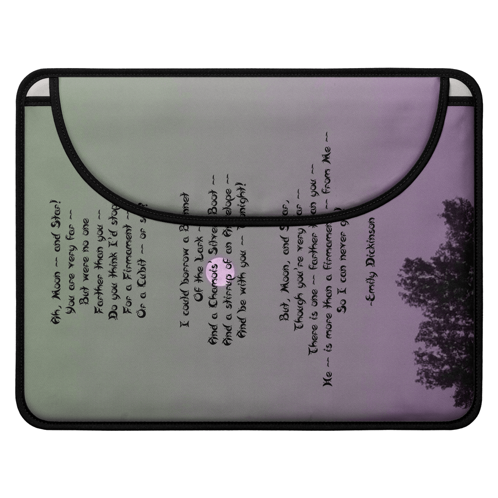Moon (Poem) Envelope Laptop Sleeve