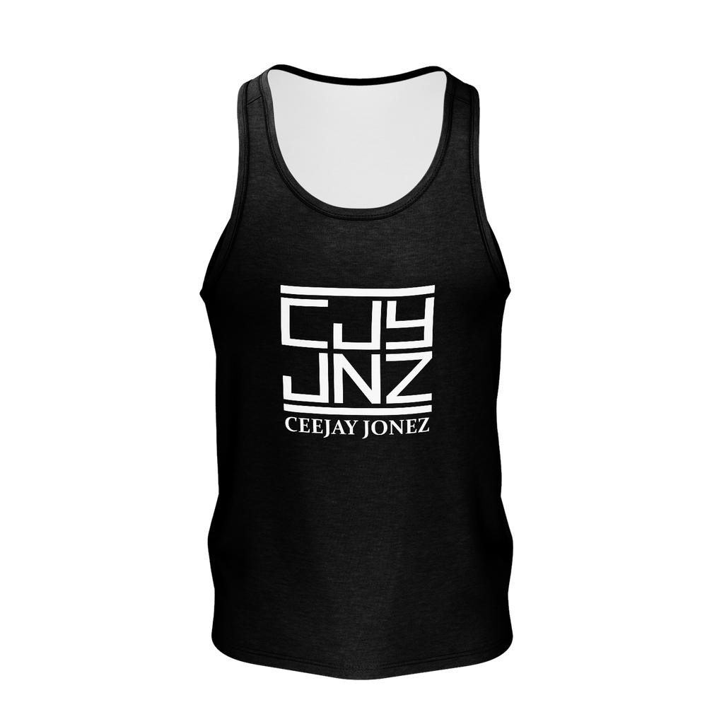 White Logo Men's Tanktop (Black)
