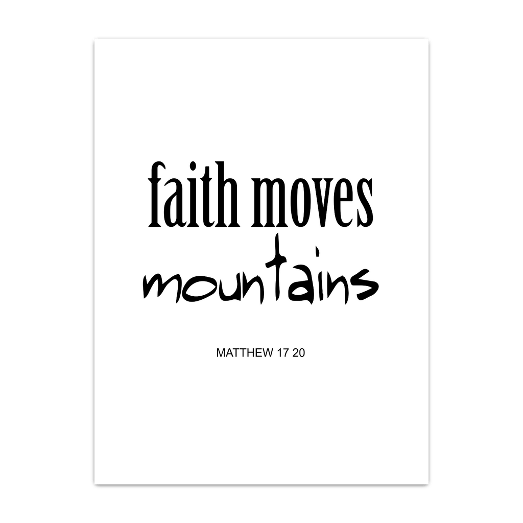 faith move mountains