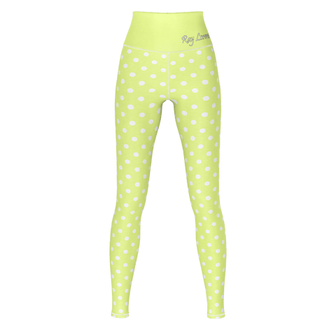 Polka Dot Yoga - Khaki Yellow