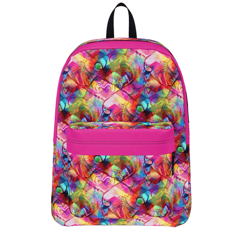 Harlequin Heart Backpack